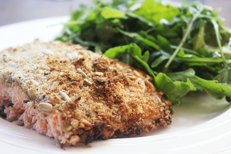 Zesty Sunflower-Crusted Salmon